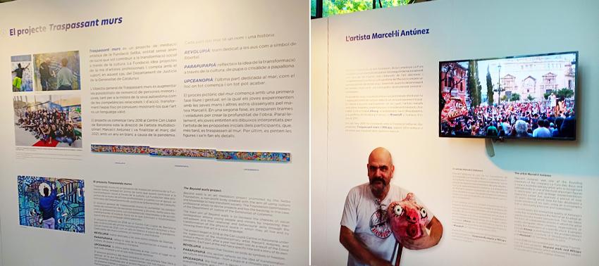 Mostra de l'aspecte dels continguts i recursos de l'exposició.